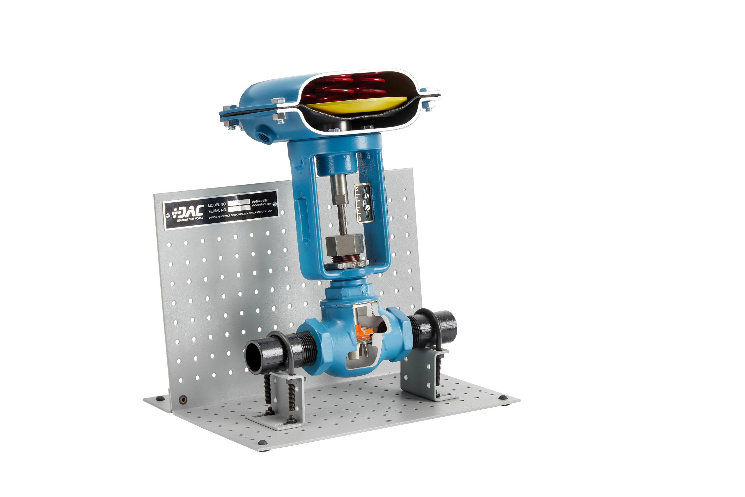 downsized diaphragm valve cutaway