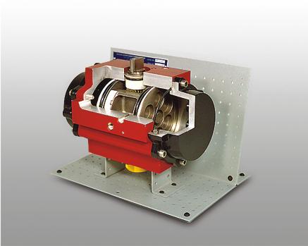 Rack and Pinion Pneumatic Valve Actuator Cutaway | 273-510