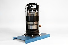 hermetic scroll refrigeration compressor cutaway training