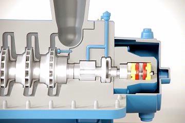 DAC Worldwide Centrifugal Compressor Model | 211C | Closeup View