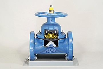 DAC Worldwide Extended Saunders Diaphragm Valve Cutaway | 264E | Front