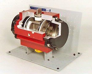 DAC Worldwide Rack and Pinion Pneumatic Actuator Cutaway | 273-510