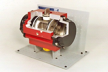 DAC Worldwide Rack and Pinion Pneumatic Actuator Cutaway | 273-510
