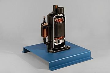 hermetic rotary compressor cutaway