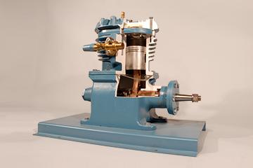 open drive refrigeration compressor cutaway training