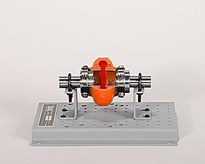 urethane tire coupling cutaway
