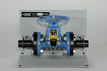 DAC Worldwide Downsized Saunders Diaphragm Valve Cutaway | 264D | Front