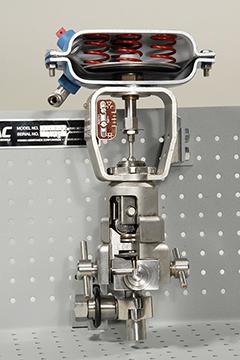 DAC Worldwide Sanitary Diaphragm Valve Cutaway, Stainless   273-410SS   Front Closeup