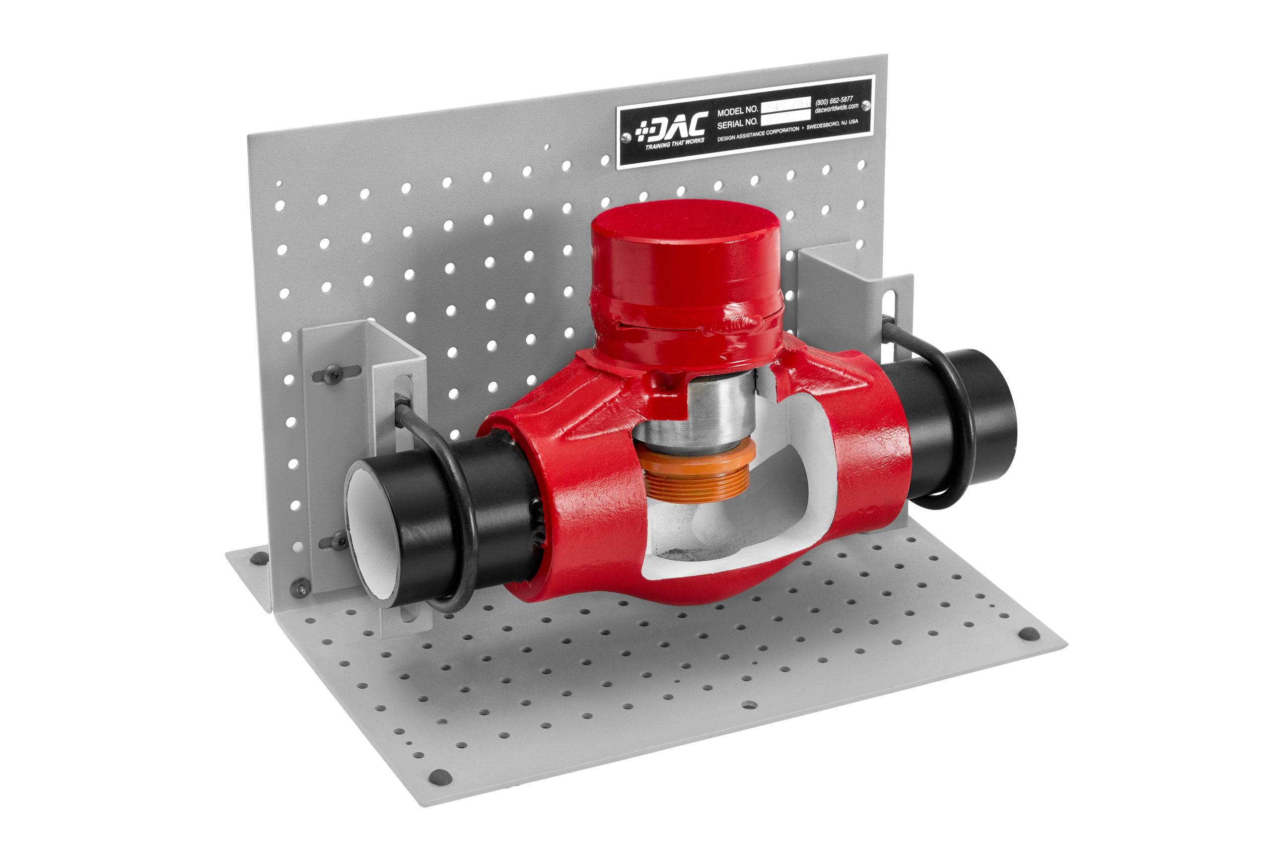 piston check valve cutaway