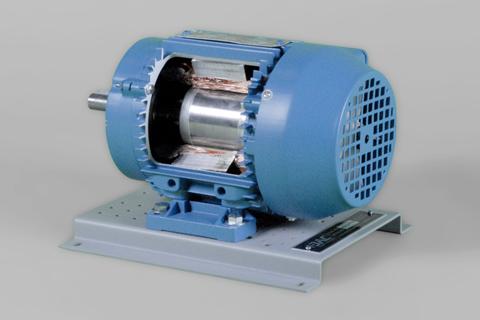 DAC Worldwide Three-Phase Squirrel-Cage AC Motor Cutaway | 273-920 | Angle 2