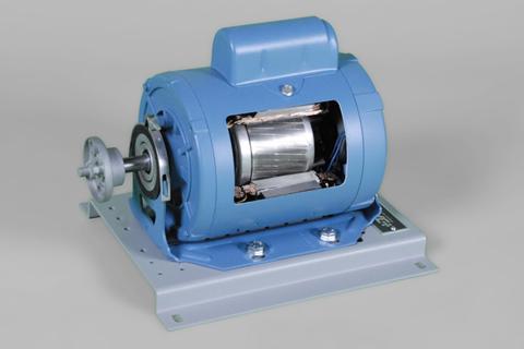 DAC Worldwide Single Phase Capacitor-Start AC Motor Cutaway | 273-930 | Angle 1