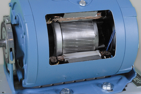 DAC Worldwide Single Phase Capacitor-Start AC Motor Cutaway | 273-930 | Closeup