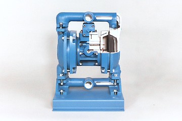 Air Operated Diaphragm Pump Cutaway