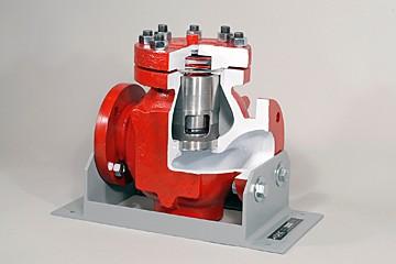 lift check valve cutaway