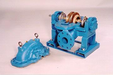Multi-Stage, Horizontally-Split Pump Cutaway