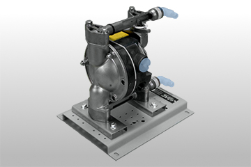Sanitary Air Operated Diaphragm Pump Cutaway, Stainless