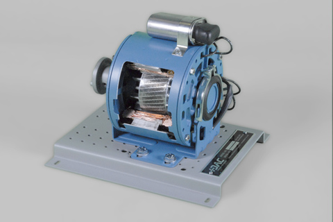 DAC Worldwide Single-Phase PSC AC Motor Cutaway | 273-950 | Angle 1