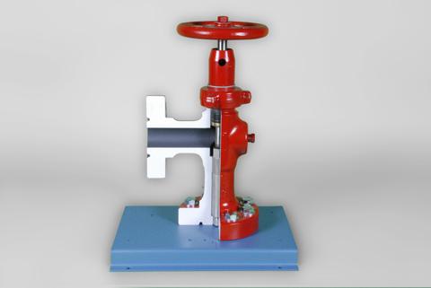 DAC Worldwide Adjustable Oilfield Choke Valve Cutaway | 295-711A | 1