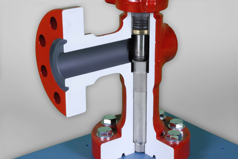 DAC Worldwide Adjustable Oilfield Choke Valve Cutaway | 295-711A | 3