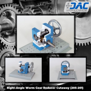 DAC Worldwide Right-Angle Worm Gear Reducer Cutaway Infographic | 205-201 | 5 tools article