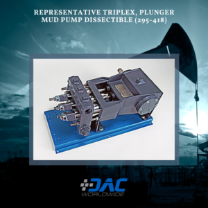 DAC Worldwide - Representative Triplex, Plunger Mud Pump Dissectible - 295-418 - Infographic