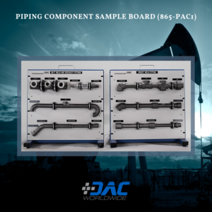 DAC Worldwide Piping Component Sample Board - 865-PAC1 - Infographic