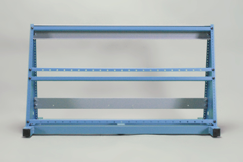 extended support frame display rack