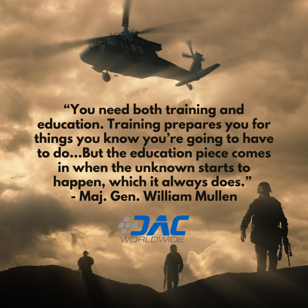 DAC Worldwide - New Marine Corps Doctrine Promotes Education & Training - Mullen Quote