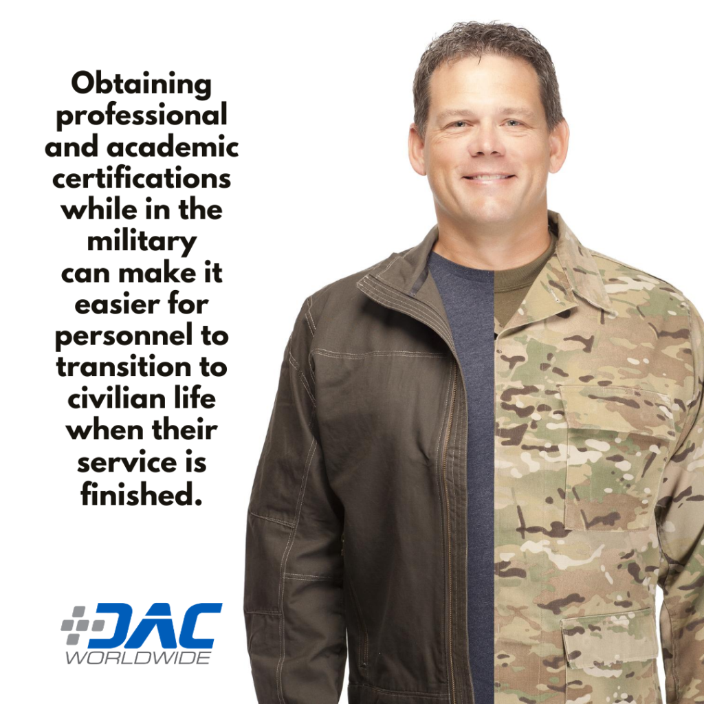 DAC Worldwide - New Marine Corps Doctrine Promotes Education & Training - Certifications Graphic