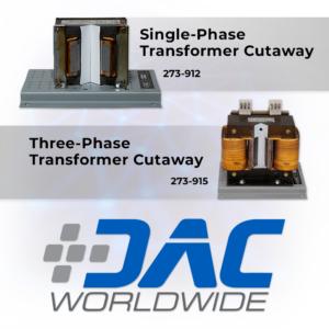 DAC Worldwide Single-Phase & Three-Phase Transformer Cutaways